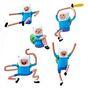 Набор фигурок Adventure Time-Finn Battle Pack (8в1) 3см