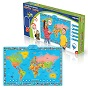 Карта мира интерактивная в коробке