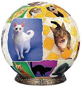 """Пазл-шар """"Мир кошек"""" (540 деталей)"""