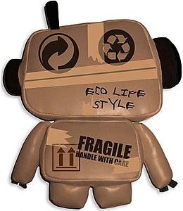 Дизайнерская игрушка Ecobot.  Этот Бобот заботится об окружающей среде.