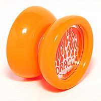 """Игрушка йо-йо AERO  """"DRAGON """" оранжевый/белый."""