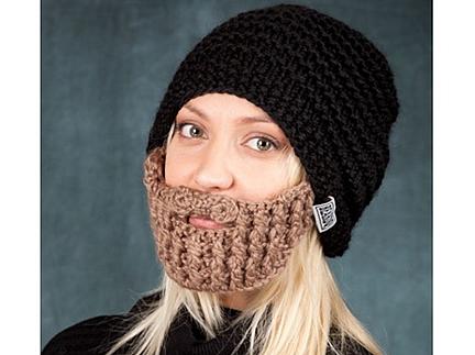 Вязаная шапка с бородой by Beard Hats.