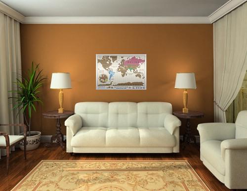 Купить скрэтч-карту мира